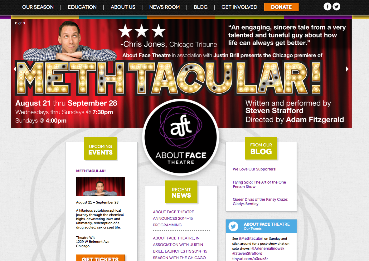 About Face Theatre Website