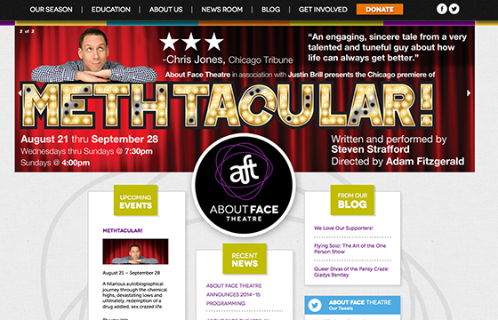 About Face Theatre Website Thumbnail