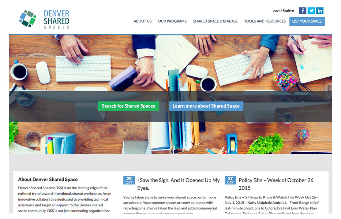 Denver Shared Spaces – Shared Space Listing Database