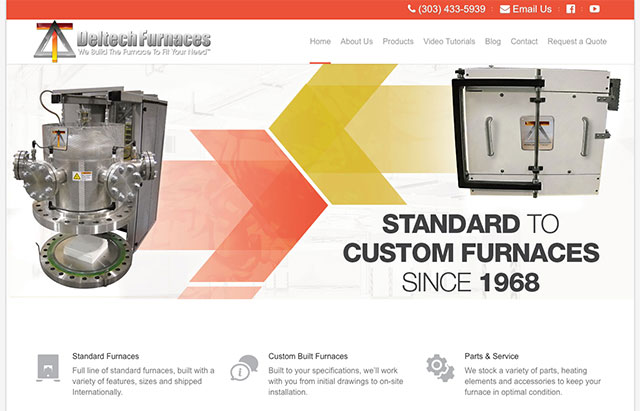 Deltech Furnaces – Website Redesign